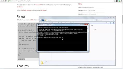node js video tutorial youtube node js tutorial how to use sqlite youtube