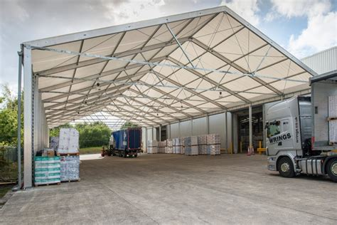 Commercial Awnings Uk by Commercial Canopy Temporary Storage Structures