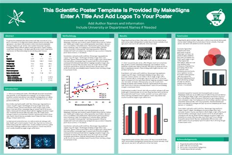 Scientfic Poster Powerpoint Templates Makesigns Powerpoint Scientific Poster Template