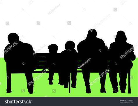 park bench people people sitting on park bench stock photo 23049502 shutterstock