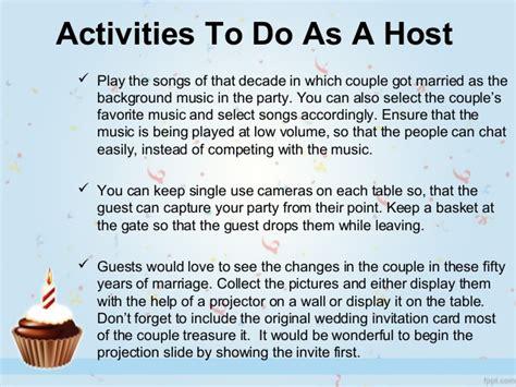 Wedding Anniversary Activities by Smart Ideas For Celebrating 50th Wedding Anniversary