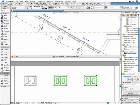 section archicad archicad design concepts sections and elevations from