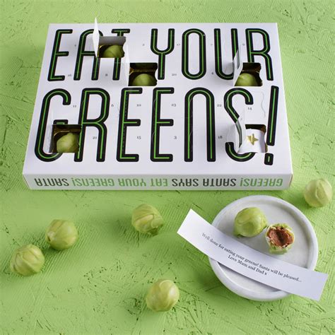 Chocolate Calendar Eat Your Greens Chocolate Sprouts Advent Calendar By