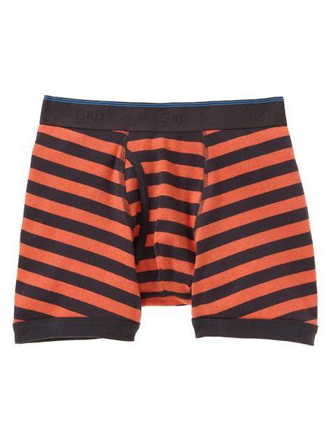 Brief Boxer Gap Size M gap contrast angled striped boxer briefs in orange for