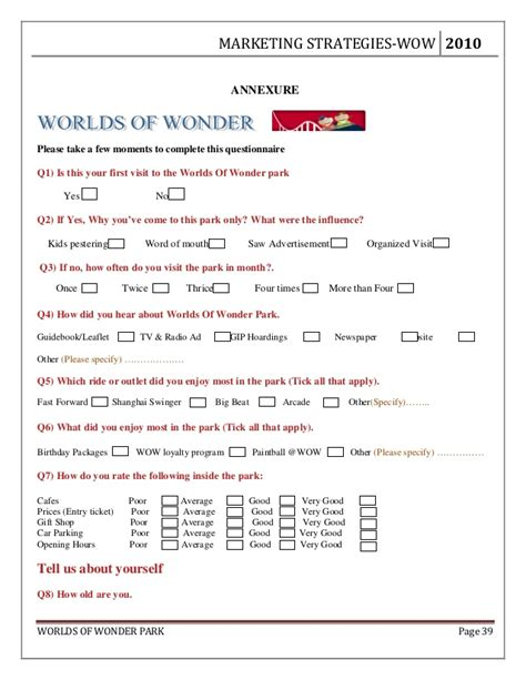theme park quiz worlds of wonder live project