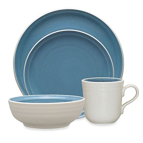 bed bath and beyond dinnerware noritake 174 colorvara dinnerware collection in blue bed