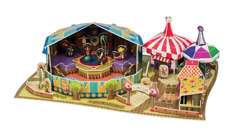 New Item Cubic Puzzle 3d Circus Clown Cannon amusement park circus craft toys