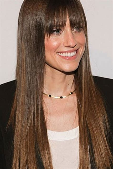 long hair with fringe hairstylrs fringe hairstyles get inspired by the best a list bangs