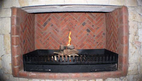 Herringbone Brick Fireplace by Herringbone Brickwork Bros Construction