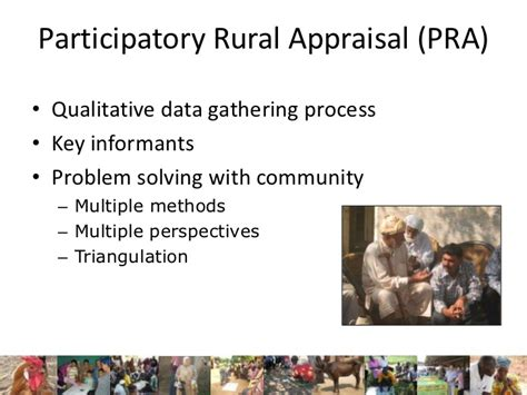 Pra Participatory Rural Appraisal participatory epidemiology in animal and human health
