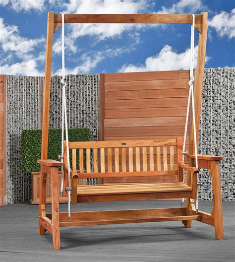 garden swing bench hardwood garden swing bench