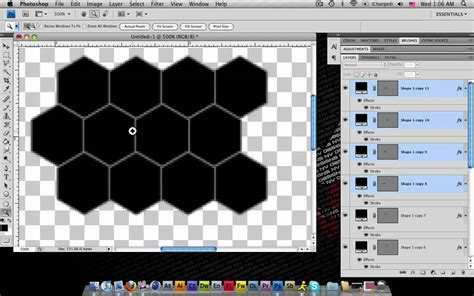 create pattern from image photoshop how to create a honeycomb pattern in photoshop youtube
