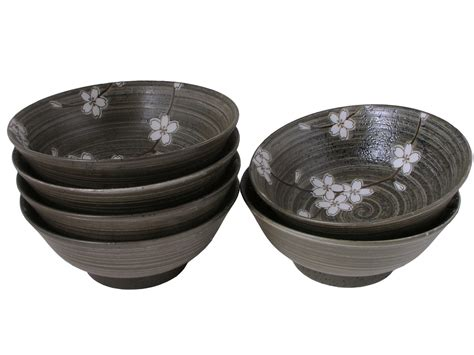 Kitchen Ceramic Canisters by Spring Forest Cherry Blossoms Collection Ramen Bowl Set