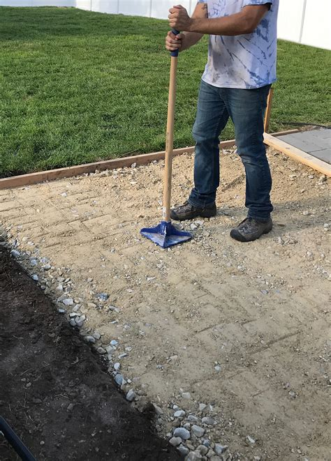 How To Install Pavers For A Patio Installing Patio Pavers On Sand