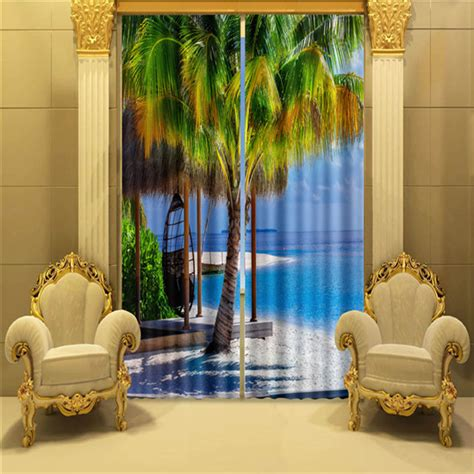 palm tree curtains drapes palm tree window curtain 3d curtains for living room