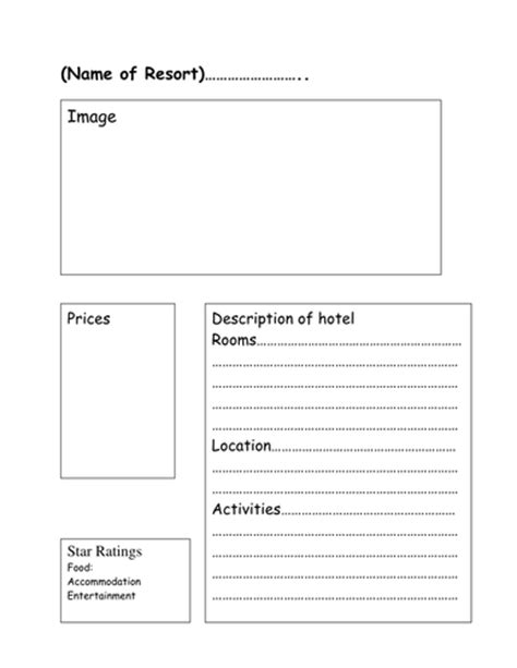 travel brochure template ks2 travel brochure template by sjb1987 teaching resources tes