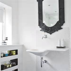 Black Bathroom Mirror by White Bathroom With Black Mirror Modern Bathroom