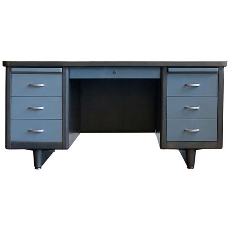 Refinish Desk by Pedestal Tanker Desk Refinished At 1stdibs