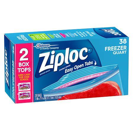 ziploc zipper freezer bags value pack quart size