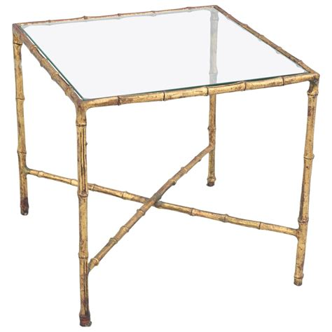 bamboo accent tables gilded iron faux bamboo accent table at 1stdibs