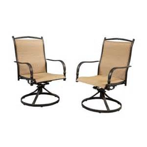 Hton Bay Swivel Patio Chairs Hton Bay Altamira Motion Patio Dining Chairs Set Of 2 Dy9976 The Home Depot