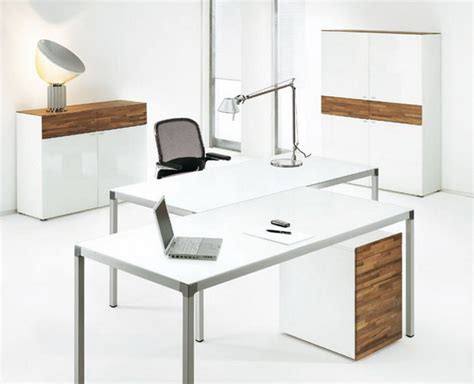 Charming Idea Modern White Office Desk Modest Decoration Modern White Office Desk