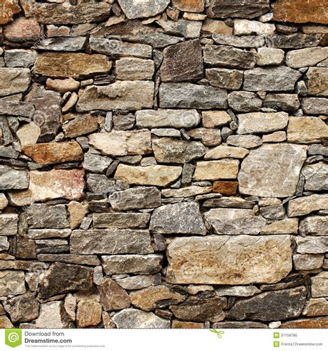 Seamless Stone Wall Texture by Seamless Texture Of Medieval Wall Of Stone Blocks Stock