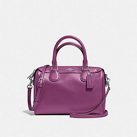 Coach F57521 Mini Bennet Mauve 1 coach f57521 mini satchel in crossgrain leather silver mauve coach handbags