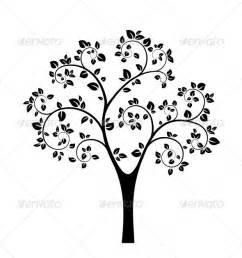 Tree Outline Emoji by Graphicriver Black Vector Tree 4620130
