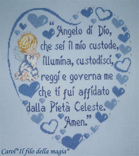 cuscino nascita punto croce cuscino quadretto cuore quot preghiera angelo di dio bimbo