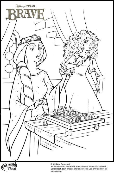 coloring pages princess merida disney princess merida coloring pages team colors