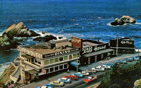 cliff house sf cliff house san francisco in the 1960 s post card picture flickr