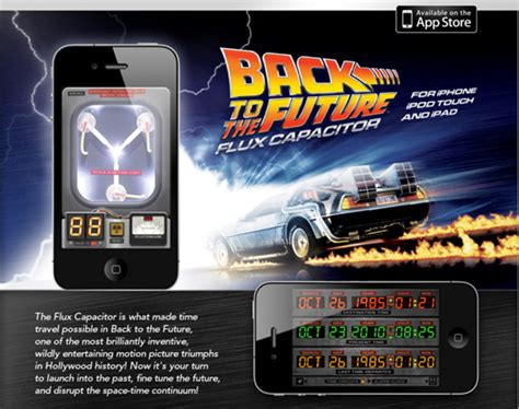 flux capacitor iphone app pocketable back to the future flux capacitor iphone app freshness mag