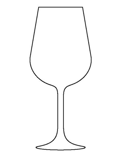 wine glass place cards template wine glass pattern use the printable outline for crafts