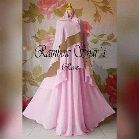 Gamis Lapis Gamis Jumbo Busui gamis modern rainbow ceruti 036 baju muslim syari terbaru