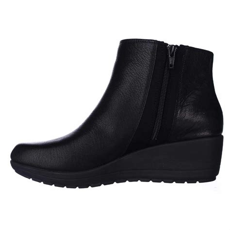 easy spirit boots easy spirit cheltzie wedge ankle boots in black lyst