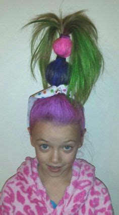 crazy hairstyles at home fun idea for crazy hair day at school http