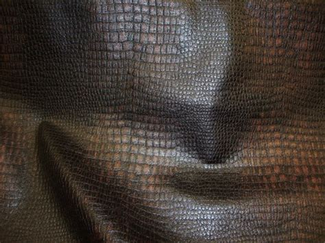 vinyl upholstery dye dark black and brown color embossed crocodile upholstery