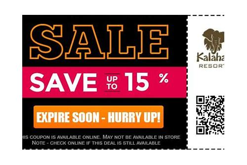 kalahari coupons november 2018