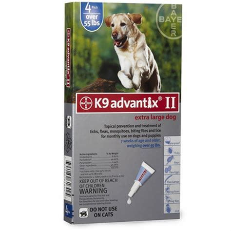 advantix for dogs 4 month k 9 advantix ii blue large for dogs 55 lbs