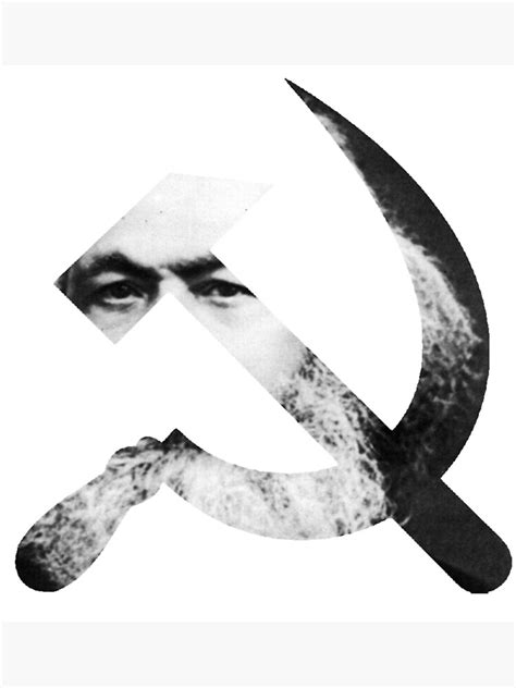 """""""Karl Marx Hammer and Sickle Cutout"""" Framed Art Print by"""