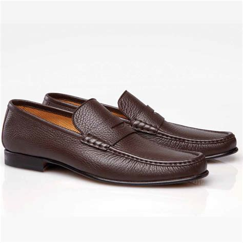 brown loafers stemar sorrento deerskin loafers brown
