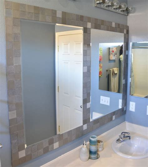 tiled bathroom mirrors 17 best ideas about tile mirror frames on tile