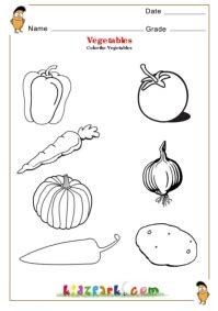 worksheets for preschoolers on fruits and vegetables fruits vegetables science worksheets for kindergarten