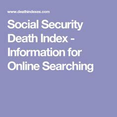 Social Security Index Records Family Heritage Month Genealogy