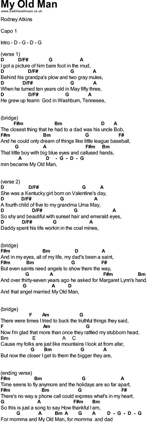 Fancy This Old Man Guitar Chords Pictures Beginner Guitar Chords