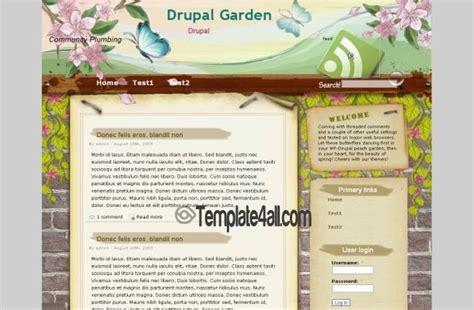 theme garden drupal 7 grunge floral garden drupal theme download
