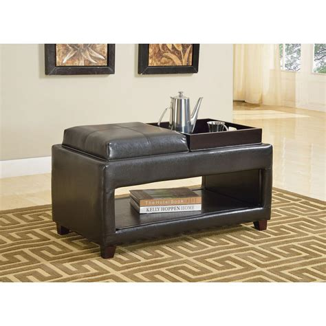 brown storage bench simpli home amherst dark brown storage bench int axcab