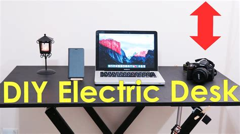 diy sit stand desk how to make an electric sit and standing desk diy youtube