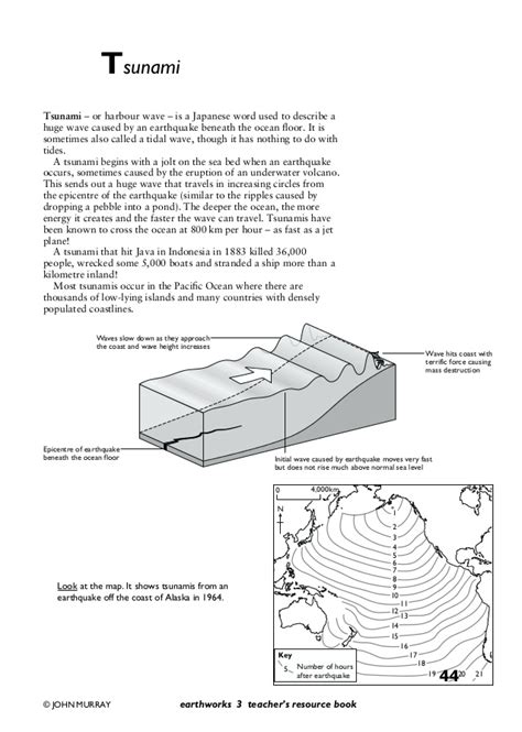 Tsunami Worksheets For Middle School by Tectonics And Volcanoes Pack